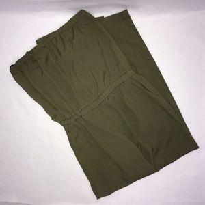 Bisou Bisou Olive Green Strapless Jumpsuit 12